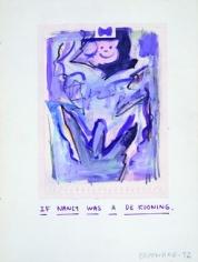 Untitled (Nancy as a de Kooning)
