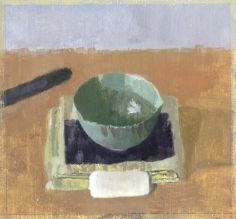 Tea Bowl, Bar of Soap, Yellow Cloth, and Knife