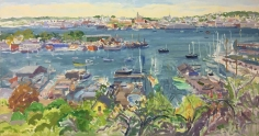 Nell Blaine Gloucester Harbor from Banner Hill, 1986