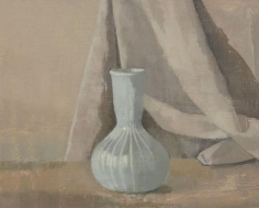 Glass Vase with Drapery