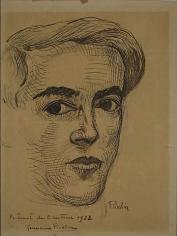 Autoportrait 1922 ink on paper