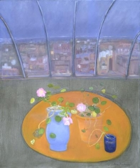 JANE FREILICHER Nasturtiums and Petunias I