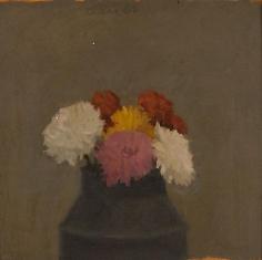 Flowers 1962 oil on board