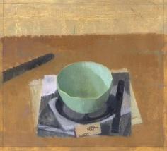 Tea Bowl, Photocopy, Cork, and Knife