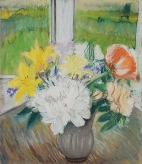 Flowers 1977 pastel on paper