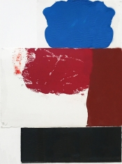 """George Negroponte. Small Figure. 2005. Gouache on paper. 19.75"""" x 15"""""""