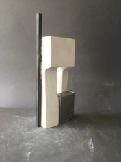 """Mark Webber. Portal. 2019. Steel, Tin, and Hydrocal. 14"""" x 7"""" x 2"""" at Anita Rogers Gallery"""