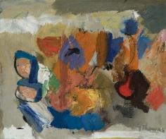 Yvonne Thomas (1913-2009) Anemones, 1957