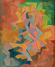 Manierre Dawson (1887-1969) Figure Party-Colored, 1913