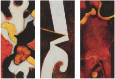 William Scharf, Vernal Equinox, Shrine Climb, On the Path's Map (From left to right), 2005