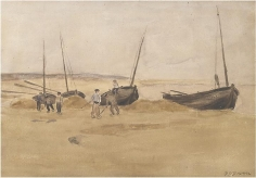 Frederick C. Frieseke - Fishing Boats, circa 1898