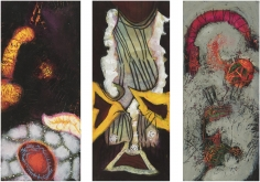 William Scharf, Planted Heart, Negligee of Snow, An Amulet for a da Vinci (From left to right), 2005, 2004, 2002-6 (From left to right)
