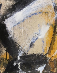 Norman Bluhm - Untitled (Yellow, White, and Black), 1961