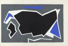 Ralston Crawford - Blue, Grey, Black, 1957