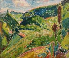 Alfred H. Maurer - Landscape (Marlboro) Horizontal, circa 1915-1920