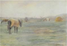 Frederick C. Frieseke - Horse in Field (Holland), 1898