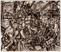 Clive Head (b. 1965) Drawing for As Night Falls to the Musician's Call, 2017