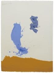 Robert Motherwell (1915-1991) In Blue Ochre with Gauloises, 1967
