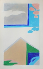 George Vranesh (1926-2014) Untitled (House and Clouds), 1981