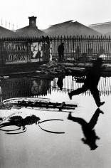 Henri Cartier-Bresson, Behind the Gare, Saint Lazare, 1932, gelatin silver print, 16 x 20 inches. © The Estate of Henri Cartier-Bresson / Magnum Photos