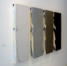Susan Weil, Peripheries I, 2004, Acrylic on wood, 48 x 74""