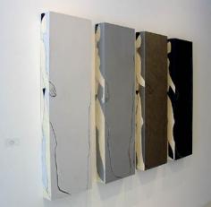 "Susan Weil, Peripheries I, 2004, Acrylic on wood, 48 x 74"""