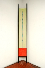 Element, 2014, acrylic on fabric on wood,121 x 17.5 inches/307.3 x 44.5 cm