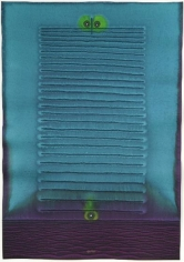 , Sohan Qadri, Deva I, 2007, ink and dye on paper, 39 x 27 inches