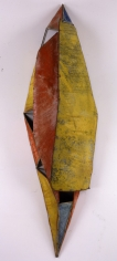 Nathan Slate Joseph, Moon River Buddhi, 2006, Pure pigment on galvanized steel, 92 x 26 x 18.5""