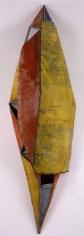 "Nathan Slate Joseph, Moon River Buddhi, 2006, Pure pigment on galvanized steel, 92 x 26 x 18.5"""