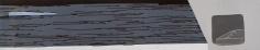 Frances Barth, putnam grey screen, 2009, acrylic on canvas, 18 x 96 inches