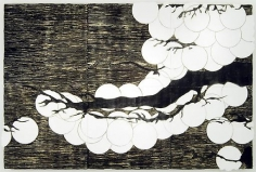 , Donald Sultan, Japanese Pine April 16 2007, 2007, Spackle and tar on tile over masonite, 96 x 144 inches