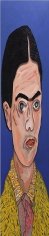 Frida Kahlo, 2013, acrylic and wood on canvas, 84 x 18 inches