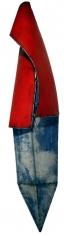 "Nathan Slate Joseph,  Kalahari Kalahari III , 2006, Pure pigment on galvanized steel, 117 x 24 x 23"""
