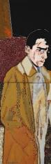 "Lee Waisler, Hershcel Grynszpan, 2008, Acrylic, sand, glass and wood on canvas, 72 x 24"""