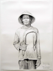 Belok Kiri Jalan Terus (Turn Left and Go Ahead), 2015, charcoal on paper, 48.8 x 35inches/124 x 89 cm