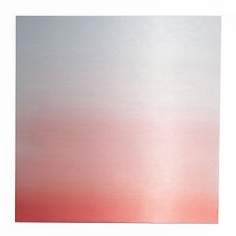 , Miya Ando, Transformation Pink Light, 2013, hand-dyed anodized aluminum, 24 x 24 inches