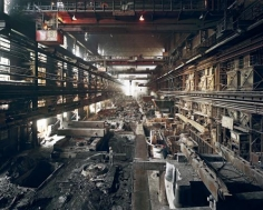Edward Burtynsky, Old Factories #4, Shenyang Heavy Machinery Group, Tiexi District, Shenyang City, Liaoning Province, China, 2005, Chromogenic color print, 39 x 49 inches. Photograph © 2010 Edward Burtynsky