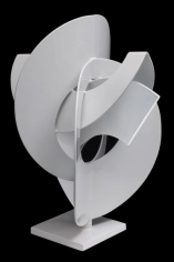 , Anthony Poon, Exploration, 1992, steel, 22 x 22 x 23 inches/55 x 55 x 59 cm.