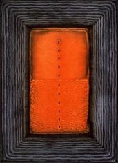 "Sohan Qadri, Dhira, 2005, Ink & dye on paper, 64 x 48"""