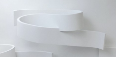 Rondolinear #17, 2012, plaster and wood, 26x 72 x 22.5 inches/66 x 182.9 x 57.2 cm