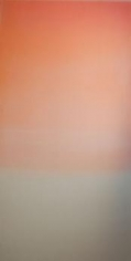 , Miya Ando, Hakanai Fleeting (Orange).jpg, 2013, Hand-dyed anodized aluminum, 48 x 24 inches