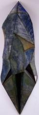 "Nathan Slate Joseph, The Dream at Mangalam, 2006, Pure pigment on galvanized steel, 98 x 32 x 17"""