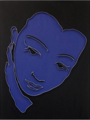 Lee Waisler, Anna May Wong, 2011, acrylic and wood on canvas, 40 x 30 inches