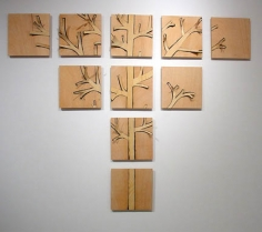 Susan Weil, Wooden Tree, 2005, Wood veneer on wood, 56 x 70""