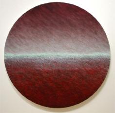 Joan Vennum, Dark Drift, 2005, Oil on canvas, 5' Tondo