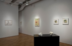 "L to R: Alex Katz, ""Peter,"" 2008; Judith Rothschild, Untitled, c. 1945; Ellen Lanyon, Untitled, 1964; Jose de Rivera, ""Working Model No. 20,"" 1955; Jose de Rivera, ""Working Model No. 33,"" 1955; Judith Rothschild, Untitled c. 1945; Judith Rothschild, Untitled c. 1944-45."