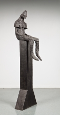 magdalena abakanowicz figure sitting on pole 1999 richard gray gallery