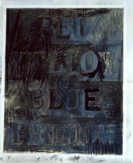 Jasper Johns Folly Beach Charcoal and chalk on paper