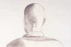 Alex Katz, Peter, 2008 Charcoal on paper